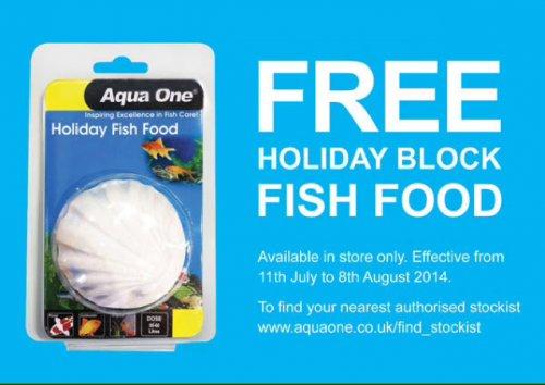 Free Aqua One Holiday Feeding Block