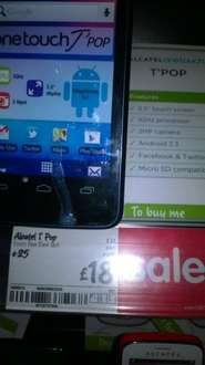 Alcatel T Pop Android Mobile phone £18 @ asda instore