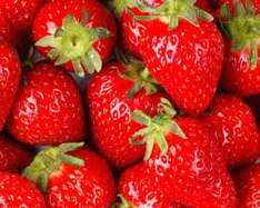 Punnet of strawberries (400g) 2 for £1.20 (or 69p each) @ haighs farm shop mirfield huddersfield