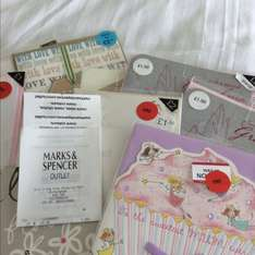 Marks and spencer outlet instore - 9p greeting cards