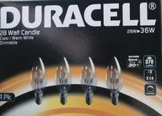 Duracell Light Bulbs all fittings 4 for £2 Asda