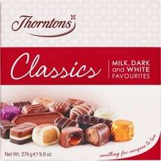 Thorntons Chocolate & Toffee Collections Half-Price @ Argos From £1.49