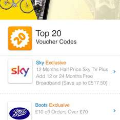 Half price sky TV with free broadband for a year