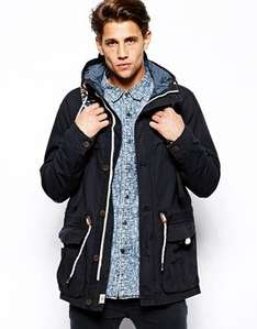 Mens Pull&Bear Blue Lightweight Parka with Hood Asos £13.00 delivery £3 under £15