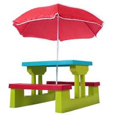 Child's picnic bench with parasol - £34.99 delivered @ Amazon and sold by Trendi