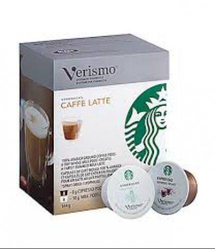 Starbucks verismo caffe latte pods £4.46 @ Tesco
