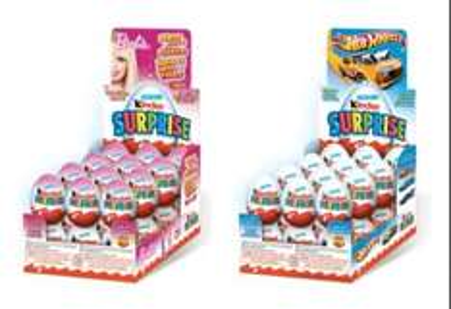 Kinder surprise eggs barbie , hot wheels £0.49p at asda