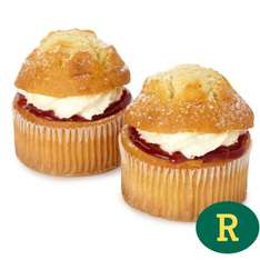 Morrisons Fresh Cream Muffins - 2 per pack  Half Price - was £1.75, now 87p @ Morrisons