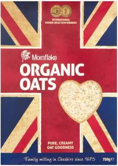 Mornflake Organic Oats (750g) was £1.99 now £1.50 @ Tesco