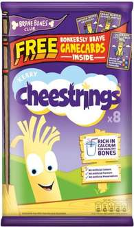Cheestrings Original or Twisted (8 x 20g) made by Kerry Foods Ltd, was £3.00 now £1.50 @ Morrisons