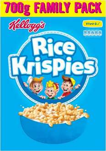 Kellogg's Rice Krispies (700g) was £3.69 now £2.00 @ Sainsbury's