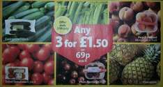 Pick of Market Street @ Morrisons - Courgette 3 Pack / Celery / Peach Punnet (Min 4) / Salad Tomatoes 6 Pack / Plums (400g) / Pineapple - 69p or 3 for £1.50...