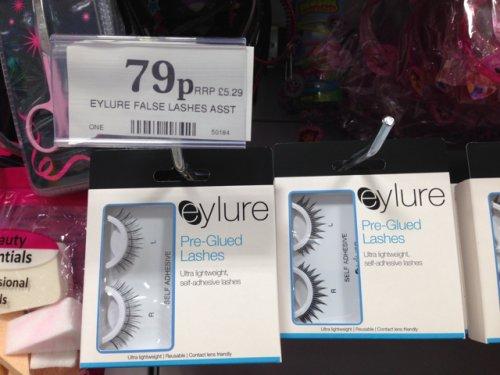 Eyelure pre glued false eyelashes 79p @ home Bargains