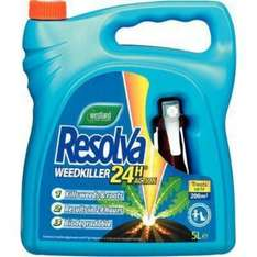 Resolva weedkiller 4 litre  £8.40 c&c @Tesco Direct