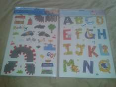 Alphabet and Race Track Nursery wall stickers (2x A3 per pack) - £0.99 at The99p Store