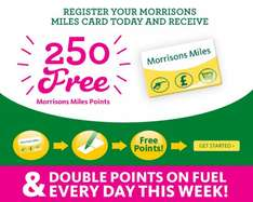 Double Morrisons Miles Points (you need to have registered for the free 250 points though) until 20th July.