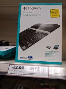ultra thin keyboard cover for ipad3 by logitech. £22 @ Tesco Instore
