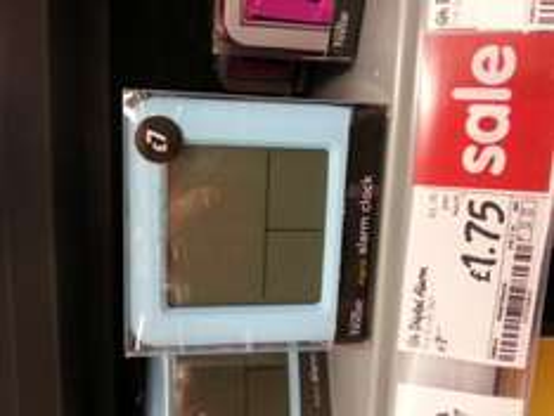 Asda George Home Blue Digital alarm clock £1.75 instore