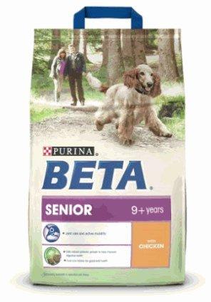 Beta Senior Dog Food £7.79 for 10KG (4 x 2.5KG) @ Amazon   (free delivery £10 spend/prime)