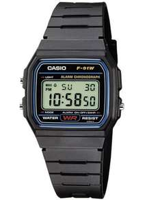 Casio F-91W-1YER Men's Resin Digital Watch £7.15 - Sold by A plus Watches and Fulfilled by Amazon (free delivery £10 spend/prime/locker)