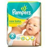 Pampers New Baby Nappies Size 2 Carry Pack 32 £3.00 @ Ocado