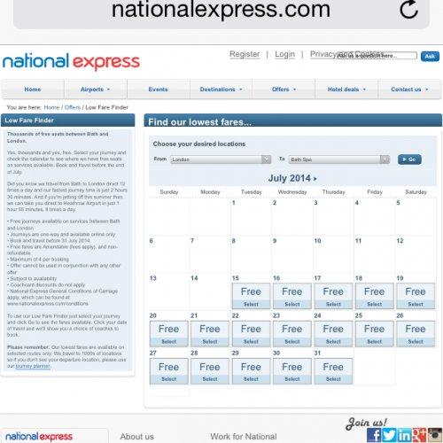 Free National Express Tickets - Bath Spa - London / London - Bath spa