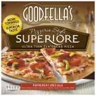 Nom-nom-nom. Sainsbury's Half price Goodfella's Supiore Pepperoni Pizza £1.75. 433G, so a bit larger than your regular pizza deals.