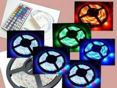 Full Kit 5M 5050 RGB LED Strip Light + Power Adapter+ IR Remote waterproof. £10.99 delivered from IT lovers on Ebay