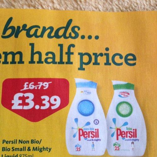 Persil bio liquid 875ml £3.39 @ morrisons