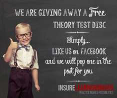 Free theory test disk... just for facebook like