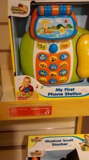 My first phone station from little learner half price @ John Lewis instore - £7