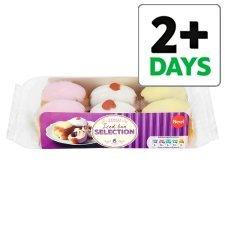 Tesco Iced Bun Selection or Raspberry Iced Buns 6 Pack £1.00 from tomorrow.