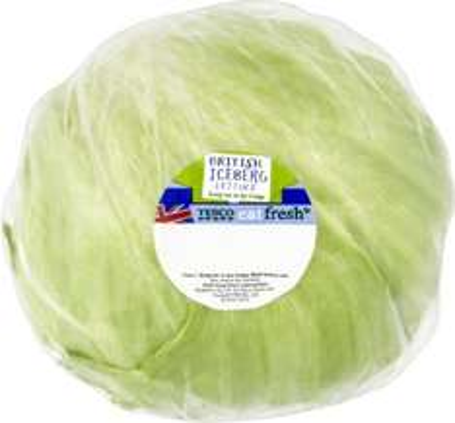 Tesco fresh Iceberg Lettuce 2 for 0.75p