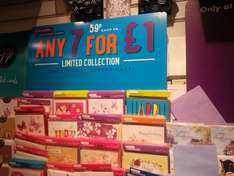 7 birthday cards for £ 1 ...normally 59p each @ the Card Factory