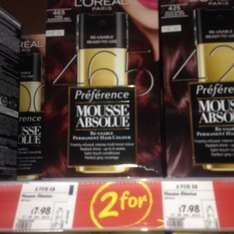 L'Oréal Paris Mousse Absolue hair dye £7.98 or 2 for £8 @ Asda