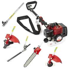 52cc 5 in 1 Petrol Hedge Trimmer Chainsaw Strimmer Brushcutter Garden Multi Tool £169.99 @ Trueshopping / Ebay