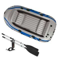 """EXCURSION 4 BOAT DINGHY SET WITH ALUMINIUM OARS 124"""" X65"""" X17"""" & PUMP £89.94 delivered @ Amazon (Sold by Active Leisure)"""