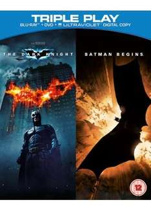 Batman Begins / The Dark Knight - Triple Play (Blu-ray + DVD + UltraViolet Copy) @ Base - £7.98