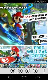 Mario Kart 8 Wii U £29.99 @ Game for one day only. Starts midnight tonight 16th July.