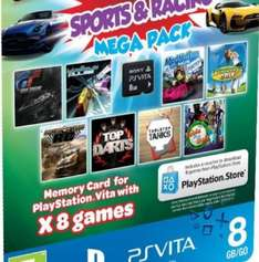 Sony PS Vita Sports & Racing Mega Pack On A 8GB Memory Card-Includes 8 Games £25.00 @ Tesco outlet Ebay
