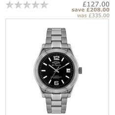 Rotary Men's Stainless Steel Bracelet Watch @ H Samuels was £335 NOW £127!! And possible cash back