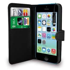 99p - Apple iPhone 5C Black PU Leather Wallet Flip Case + Stylus Pen + Screen Protector @ Amazon Delivered (GB Online Sales)