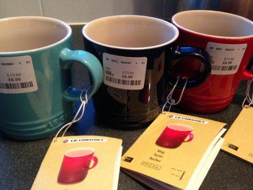 Le Creuset Large 350ml Mugs £6.99 instore @ TKMaxx
