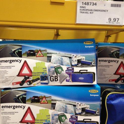 European EMERGENCY Car Travel Kit @ Costco - £11.96