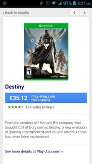 Destiny xbox one £35.12 at Play-Asia