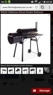 billyoh Oklahoma deluxe smoker bbq £69.90 in flaming barbeques, £139.99 in Argos... 3% quidco cash back quidco