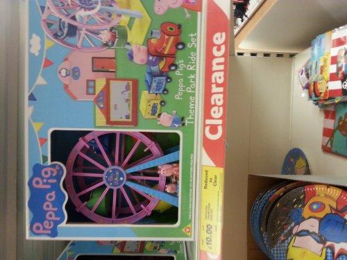 Peppa pig theme park ride set £10 at Tesco instore