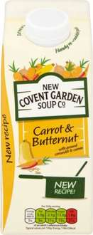 New Covent Garden Soups (Larger pack 700g) (Varieties as stocked) was £2.35 now £1.17  @ Tesco