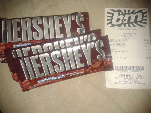 Hershey's Cookies 'n' Chocolate 40G 10p @ B&M