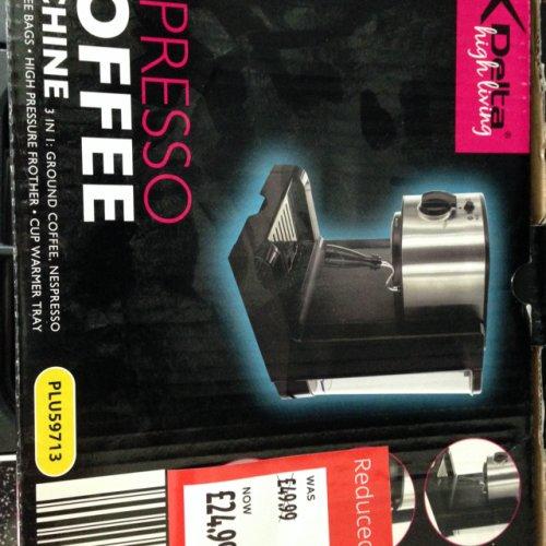 Espresso Machine only £24.99 at Aldi